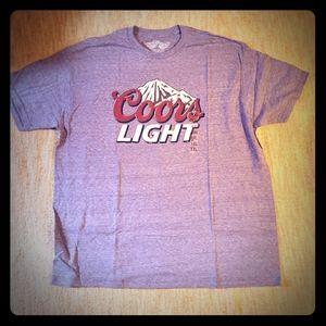 NWT Savvy Coors Light logo beer t-shirt